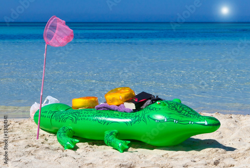 Printed kitchen splashbacks Crocodile Strandurlaub