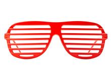Red Plastic Shutter Shades Sun...