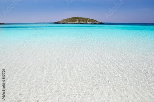 Formentera beach illetas white sand turquoise water
