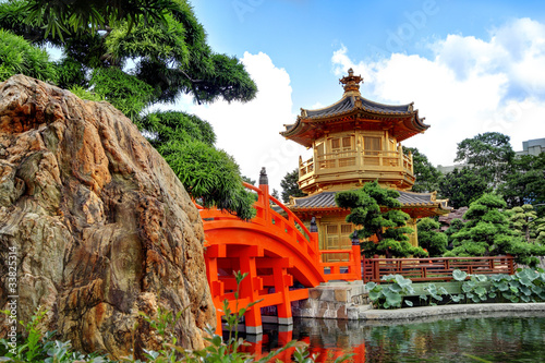 Foto auf Leinwand Hongkong The Pavilion of Absolute Perfection in the Nan Lian Garden, Hong