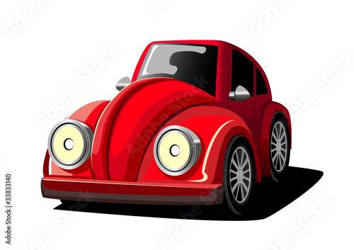 Foto op Canvas Cars Cartoon Red Car