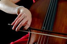 Hand On Cello Bow
