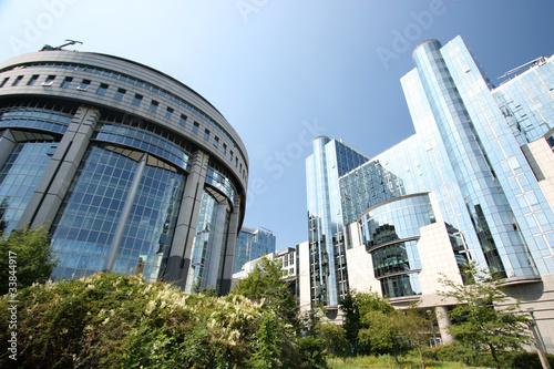 Deurstickers Brussel Bruxelles - Parlement européen