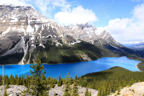 Spoed Foto op Canvas Canada Peyto Lake. Banff Nationalpark. Kanada