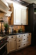 modern french style kitchen cabinetry and stove