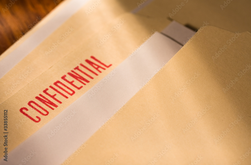 Fototapeta Confidential documents