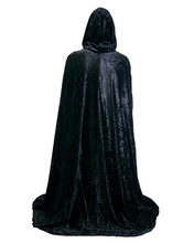Cloaked Woman, White Background.