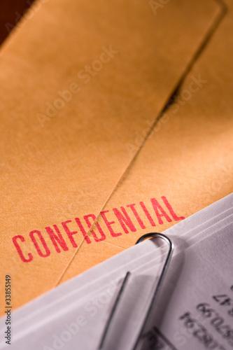 Fotografía  Confidential document