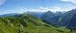 Panoramabild der Alpen