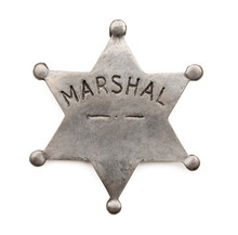 Vintage Six Point Marshal Star...