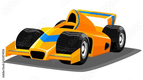 Foto op Canvas Cars Cartoon racing car