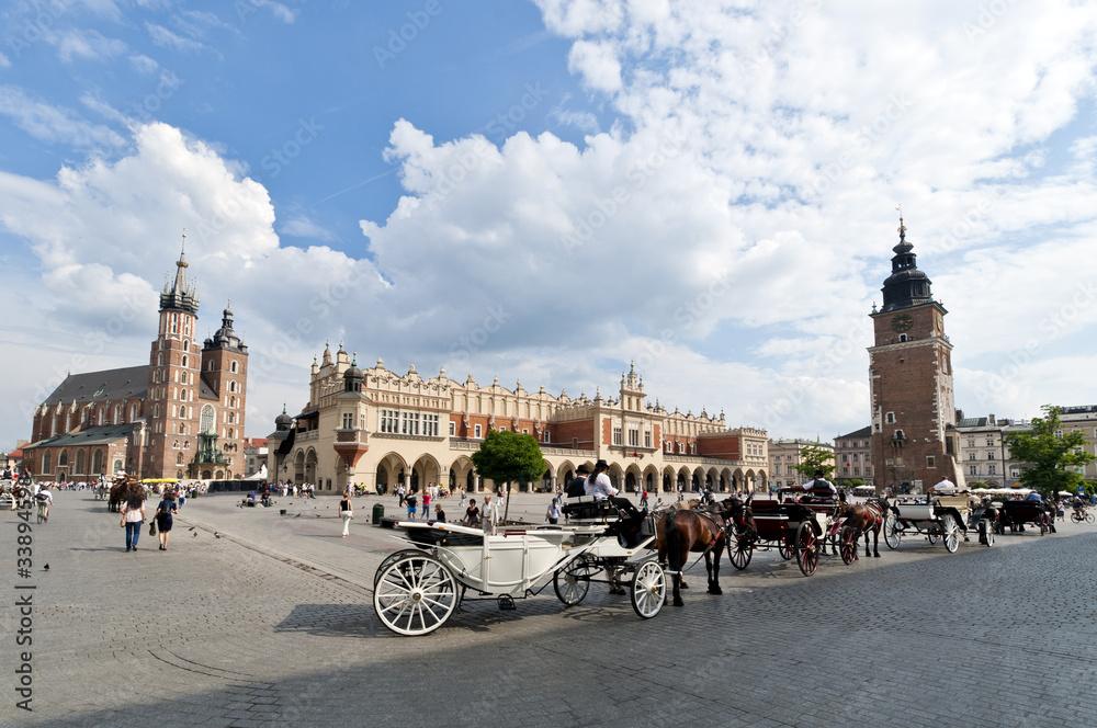 Fototapety, obrazy: Old Town square in Krakow, Poland