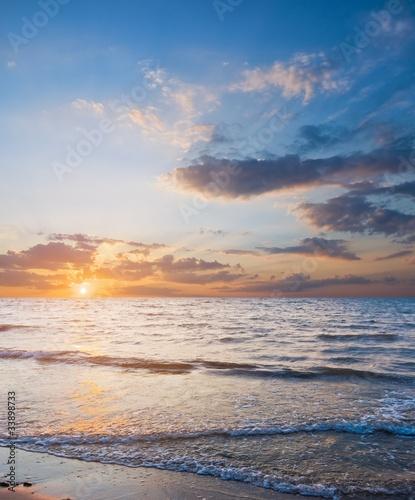 Poster Mer / Ocean quiet sea at the evening
