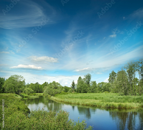 Foto op Aluminium Rivier River Vltava in the national park Sumava Crech republic - Europe