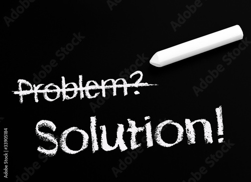 Fotografie, Obraz  Problem and Solution - Business Concept