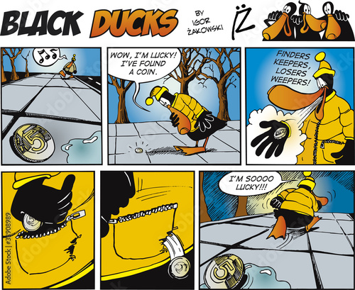 Foto op Plexiglas Comics Black Ducks Comics episode 71