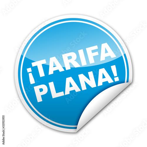 Fotografía  Pegatina ¡TARIFA PLANA! con reborde
