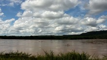 Mekong River In The Bright Sky. Khong Chiam, Thailand.