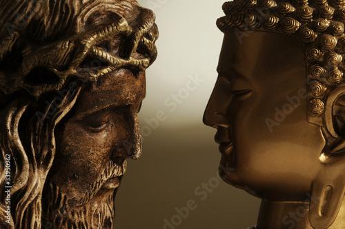 Fotografia  Jesús Cristo y Buda - 3