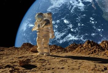 Panel Szklany Kosmos The astronaut