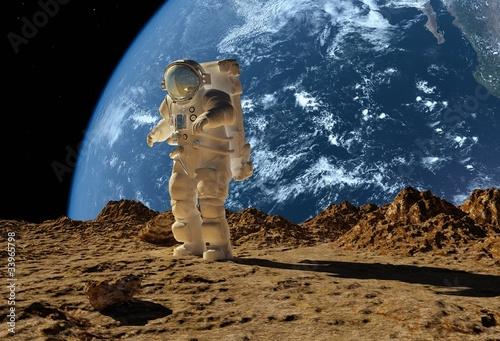 Naklejki kosmos astronauta