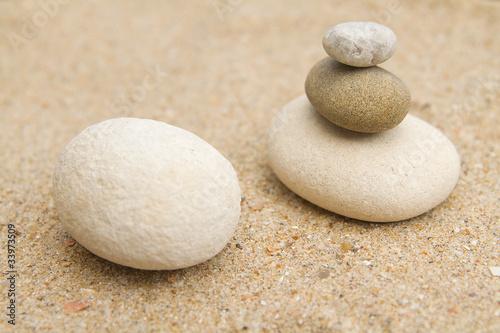Foto op Plexiglas Stenen in het Zand galets zen
