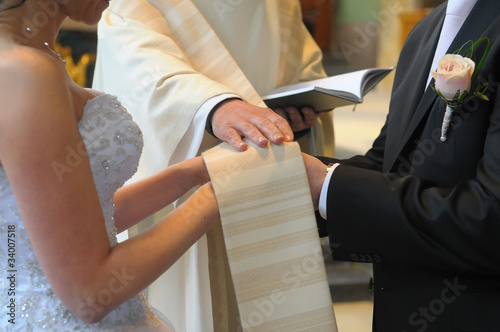 Leinwand Poster Wedding day