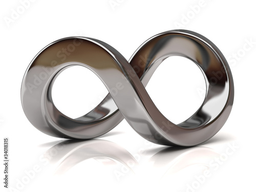 Fotografia  Silver Infinity Symbol