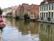 canvas print picture - Street view of Ghent, Belgium.