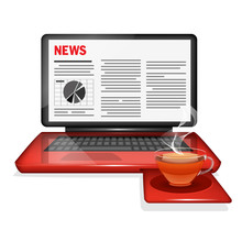 Laptop And News Website