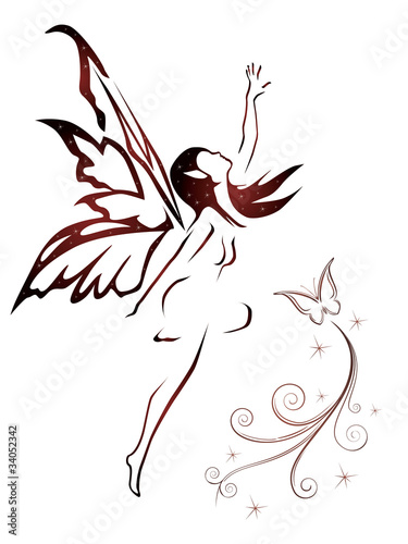 Valokuva  abstract fairy vector