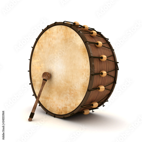 Fotografía  Ramadan Drum 3D Rendered Isolated