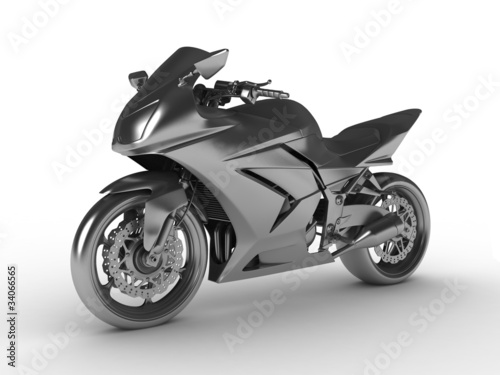 Poster Motocyclette Silver moto concept