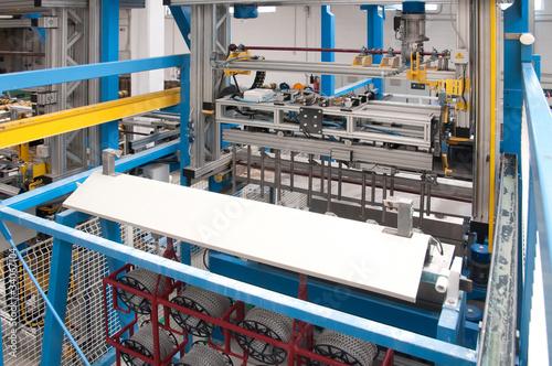 Factory: galvanization department Tableau sur Toile