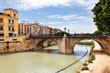 canvas print picture - Puente Viejo über Rio Segura in Murcia, Spanien