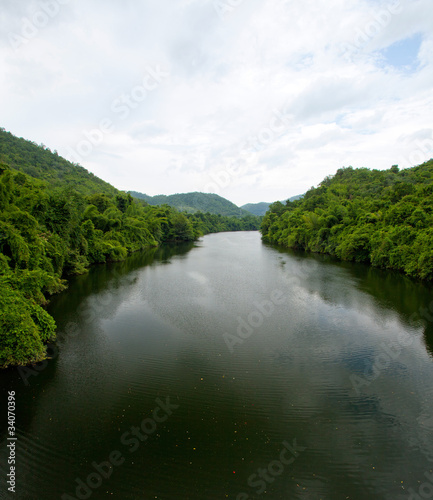 Foto op Aluminium Rivier River and forest