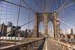 Pedestrian lane on Brooklyn bridge, NY