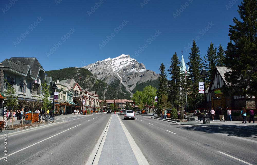 Fototapeta Main Street, Banff
