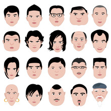 Man Face Shape Hairstyle Round...
