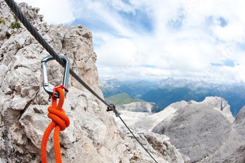 Fotografie, Obraz  Mountain scenery with carabine. Dolomites, Italy.