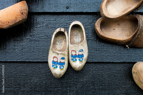 Photo  wooden shoes