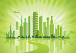 Leinwanddruck Bild - Green City. Urban background. Environment.