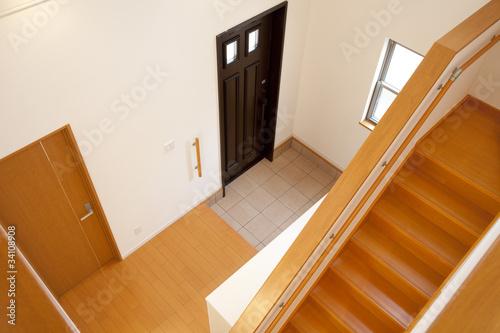 Fotografie, Obraz  玄関と階段