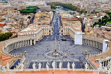 Panel Szklany Miasta Saint Peter's Square in Vatican, Rome (Italy).
