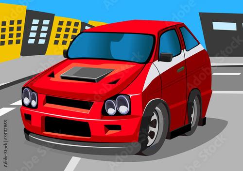 Foto op Canvas Cars cartroon racing car five
