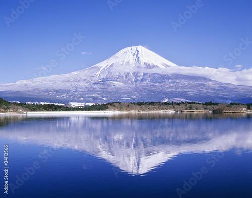 Fotografie, Obraz  田貫湖と富士山