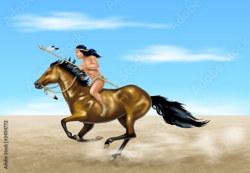 In de dag Indiërs indiano a cavallo 2