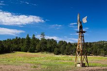 Old Farm Windmill For Pumping Water In Arizona In USA