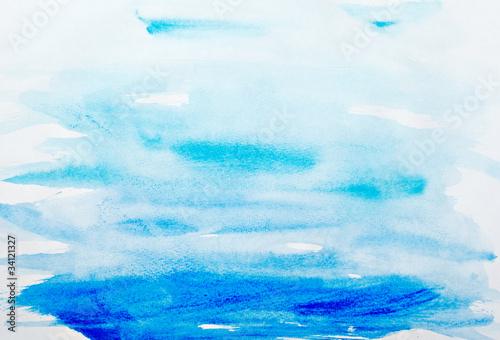 kolorowe obrysy akwarela malarstwo sztuka