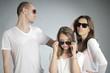 beautiful teens posing with sunglasses
